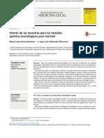 Articulo muestras toxicología