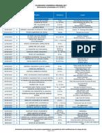 Calendar i o Carreras Urbanas 2017