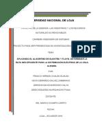 TEMA_ APLICANDO EL ALGORITMO DE DIJKSTRA Y FLOYD DETERMINAR LA RUTA MÁS EFICIENTE PARA LA DISTRIBUCIÓN ELÉCTRICA DE LA CDLA Corregido.docx.pdf