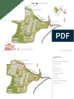 Plano de sitio arqueológico de Xochicalco