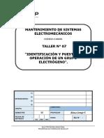 T-07 Tarea Identificación y Puesta en Operación de Un Grupo Electrógeno.