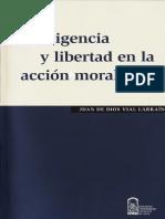 Inteligencia y Libertad en La Acción Moral - Juan de Dios Vial Larraín
