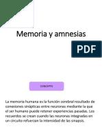 Amnesia y Memoria
