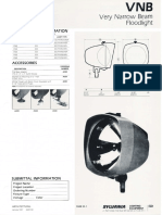 Sylvania VNB (Very Narrow Beam) Floodlight Series Spec Sheet 1-87