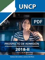 Prospecto de Admisión 2018-II