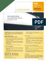 Sylvania VNB (Very Narrow Beam) Floodlight Series Spec Sheet 10-68
