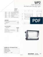 Sylvania WP2 Wall Architectural Security Light Spec Sheet 1-87