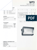 Sylvania WP3 Wall Architectural Security Light Spec Sheet 1-87