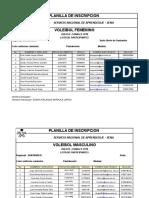 Listados Voleibol Mas-fem 2018