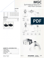Sylvania MGC Symmetrical Maxi-Gro HID Plant Grower Spec Sheet 1-87
