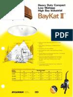 Sylvania BayKat II HID Low Wattage Industrial Spec Sheet 1985