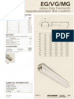 Sylvania EG-VG-MG Heavy Duty Vaportight Fluorescent Spec Sheet 5-80