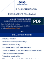 FSA - SCCA - Análise Termogravimétrica