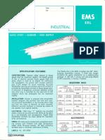 Sylvania EMS-ERL Industrial Reflector Fluorescent Spec Sheet