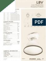 Sylvania LBV Low Brightness HID Industrial Spec Sheet 5-80
