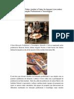 Professores da Fatec Jundiaí e Fatec Itu lançam Livro sobre Educação Profissional e Tecnológica