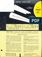 Sylvania Power-V 800ma Fluorescent Spec Sheet 1962