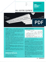 Sylvania Power-V 1500ma Fluorescent Industrial Spec Sheet 4-68