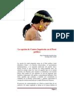 La opción de Centro Izquierda en el Perú Politico