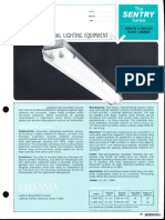 Sylvania Sentry Industrial Vaportight Fluorescent Spec Sheet 6-69
