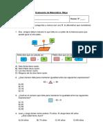 Evaluación Matematica 3ºB -Mayo
