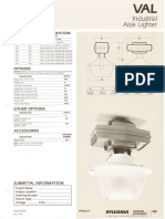 Sylvania VAL Aisle Lighter HID Industrial Spec Sheet 5-80