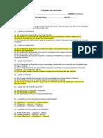 Prueb de Cs. Sociales Zexto Unidad 1 Participación Ciudadana