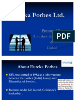Recognising the Sales Force Eureka Forbes Ltd