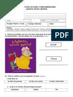 Evaluación Lectura Complementaria - Julieta Estate Quieta