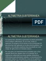ALTIMETRIA-SUBTERRANEA.ppt