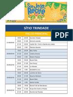 Programação oficial do São João do Recife