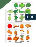 Figuras Color Verde Anaranjado y Morado