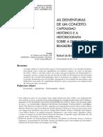 As desventuras de um conceito capitalismo histórico e a historiografia sobre a escravidão brasileira - Rafael Marquese.pdf