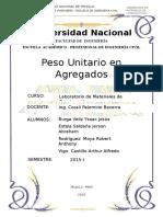 266703409 Informe de Peso Unitario de Agregados
