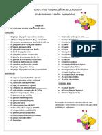 Lista de Útiles Escolares-3 AÑOS
