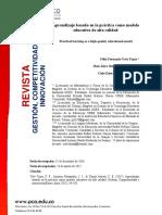 Articulo - Aprendizaje Basado en La Práctica Como Modelo Educativo de Alta Calidad
