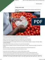 No Respite for 'TOP' Farmers Tomato Prices Crash - Rediff