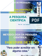 Aula 7 - A Pequisa Cientifica.ppt