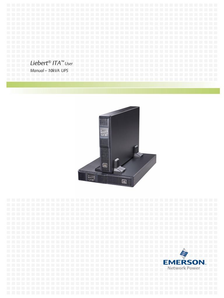 Liebert Ita 10kva Usermanual | Power Inverter | Rectifier