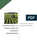 La Agricultura y La Teoria Clasica Del Comercio Internacional
