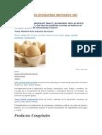 Los Diferentes Productos Derivados Del Huevo
