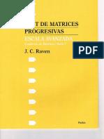 Raven. Cuaderno de Matrices y Protocolo de Respuestas. Escala Avanzada. Serie I y II.pdf