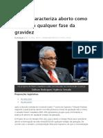 Projeto Caracteriza Aborto Como Crime Em Qualquer Fase Da Gravidez