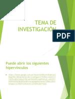 Tema de Investiion IDEAS