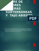 Cierre de Labores Mineras Subterráneas y Tajo Abierto