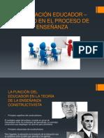 La Relación Educador – Alumno en El Proceso