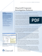 Clearwell Corporate Investigation Solution