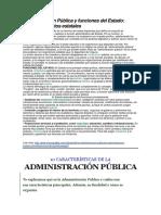 Administración Pública y Funciones Del Estado