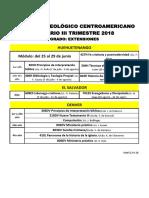 Horario III Trimestre 18, Grado, Extensiones