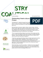 Endangered Species Act - Ontario Forestry Coalition PRESS RELEASE